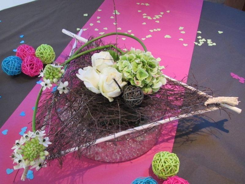 Centre de table pour décorer la salle de votre mariage