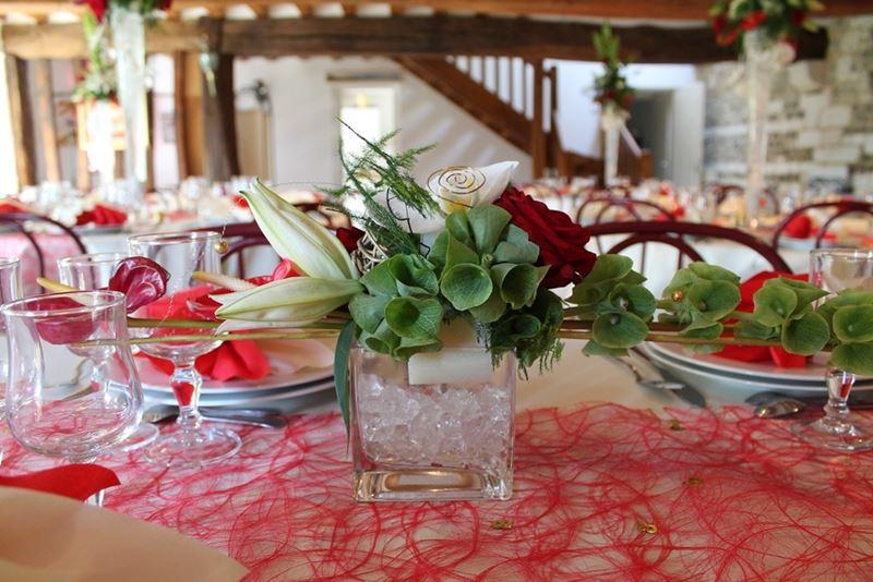 Décorez les tables de votre salle de réception avec un centre de table